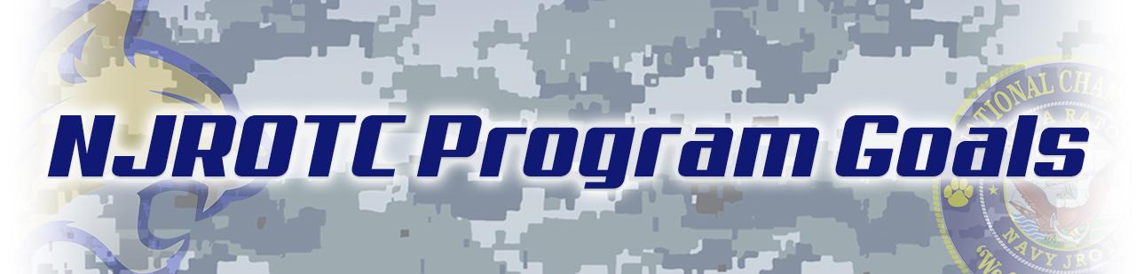 page header banner NJROTC Program Goals